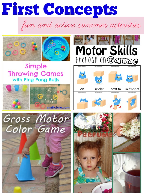 Four fun and healthy activities to learn First Concepts this summer >> compiled by Kids Yoga Stories