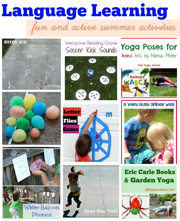 Nine Language Learning fun and healthy activities for summer >> compiled by Kids Yoga Stories