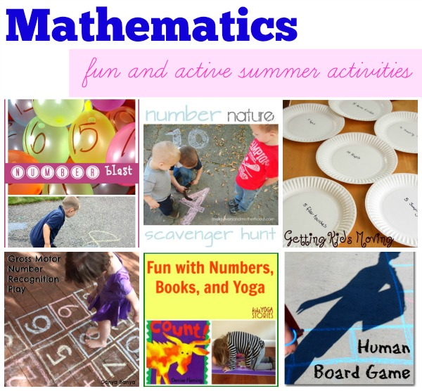 Six fun and healthy activities to learn Mathematics this summer >> compiled by Kids Yoga Stories
