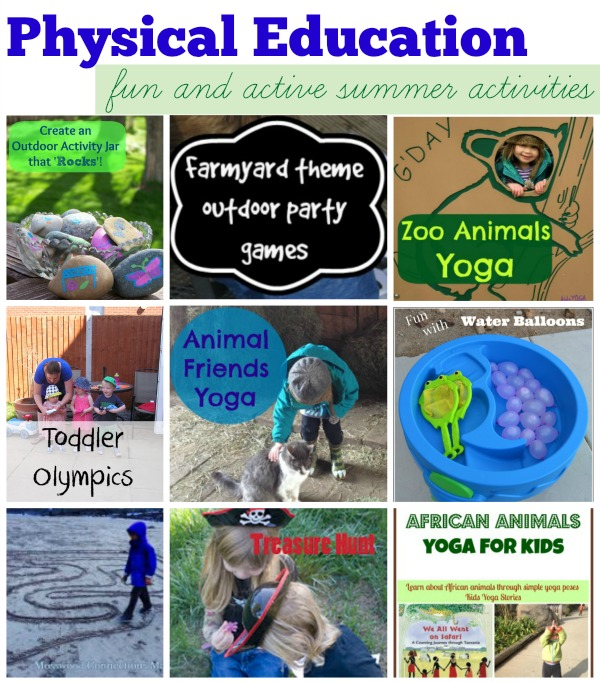 9 fun and healthy activities to practice Physical Education this summer >> compiled by Kids Yoga Stories