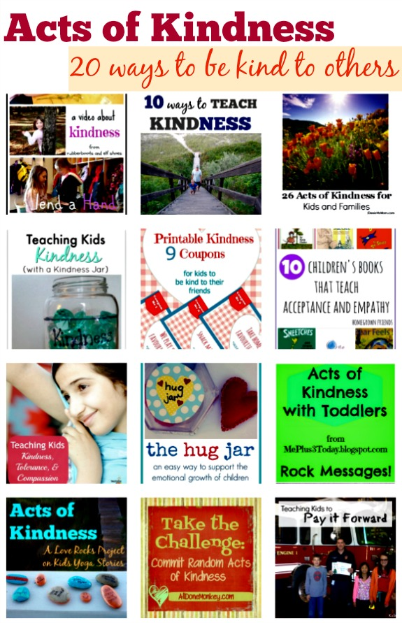 Acts of Kindness: 20 ways to teach children how to be kind to others - by Kids Yoga Stories