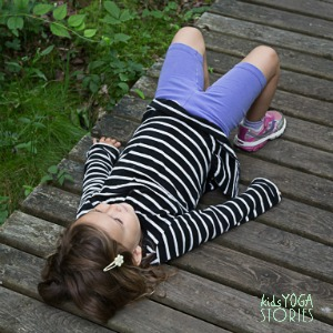 Bridge Pose by Kids Yoga Stories at wildlife refuge