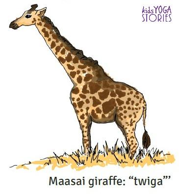 Giraffe image from 123 African Safari book by Kids Yoga Stories