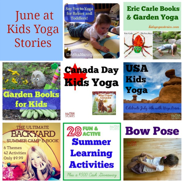 Our articles in June at Kids Yoga Stories as part of our SMART Goals