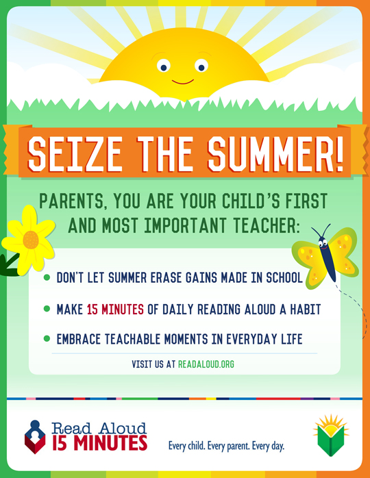 Read Aloud for 15 minutes a day: a Seize the Summer campaign