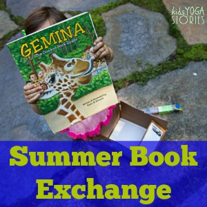 Love Books summer book exchange hosted by 60 bloggers highlighting a book and book activity >> Kids Yoga Stories