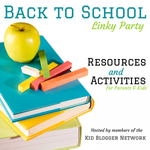 Back to School Linky Party by Kid Blogger Network
