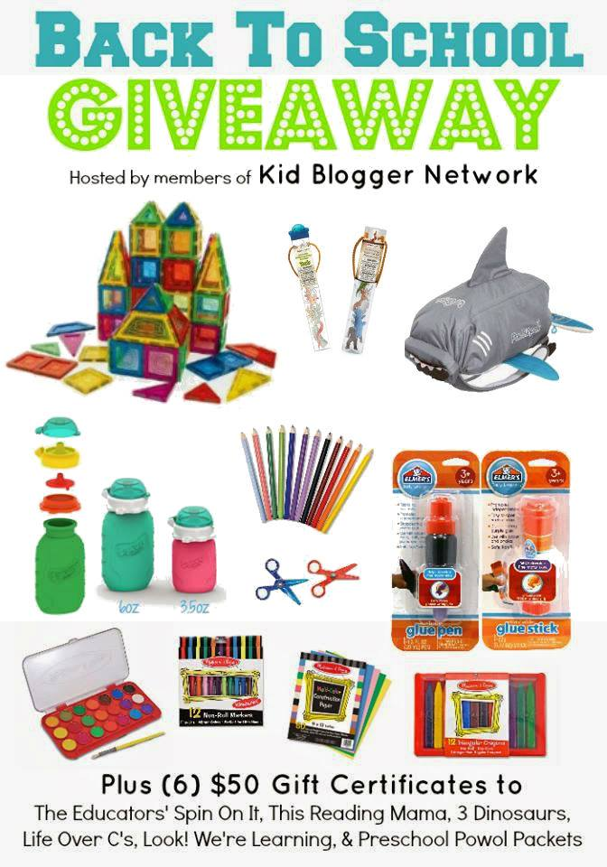 Back to School Giveaway hosted by a group of Kid Bloggers