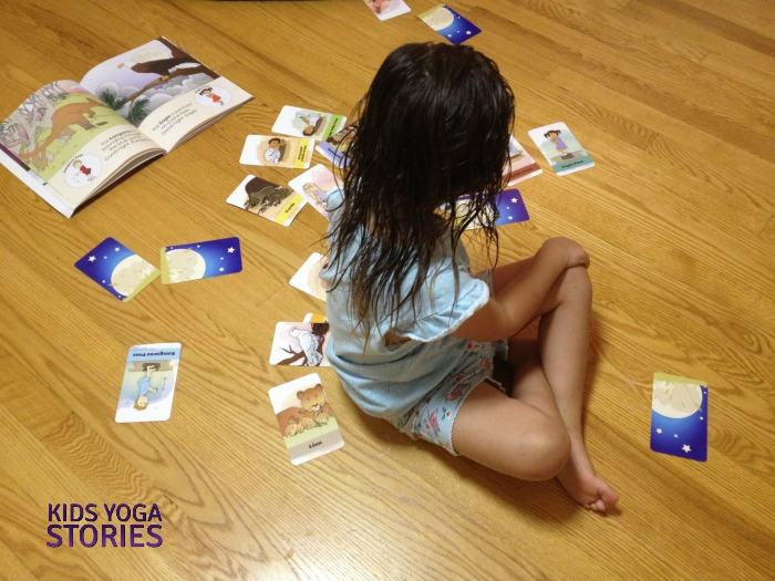 Bedtime Yoga Cards playing before bedtime | Kids Yoga Stories