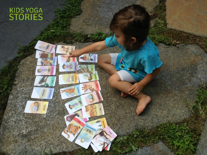 Bedtime Yoga Cards playing outside   Kids Yoga Stories