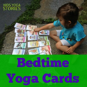 26-Pack of Bedtime Yoga Cards for Toddlers and Preschoolers to match Good Night, Animal World yoga book | Kids Yoga Stories