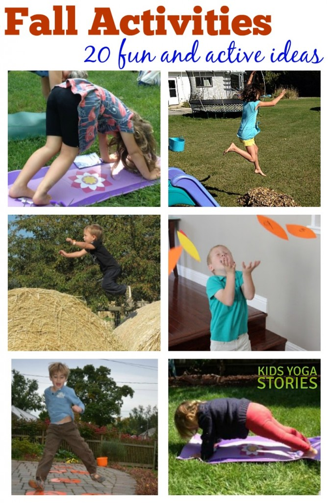 20 Fun Outdoor Fall Activities to get children learning, moving, and having fun this season | Kids Yoga Stories