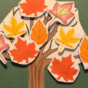 Fall Tree Decorating Craft and Scooter Game
