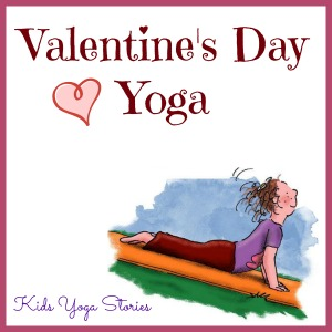 Valentine's Day yoga sequence by Kids Yoga Stories