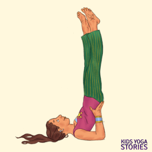 half-shoulder pose for kids | Kids Yoga Stories