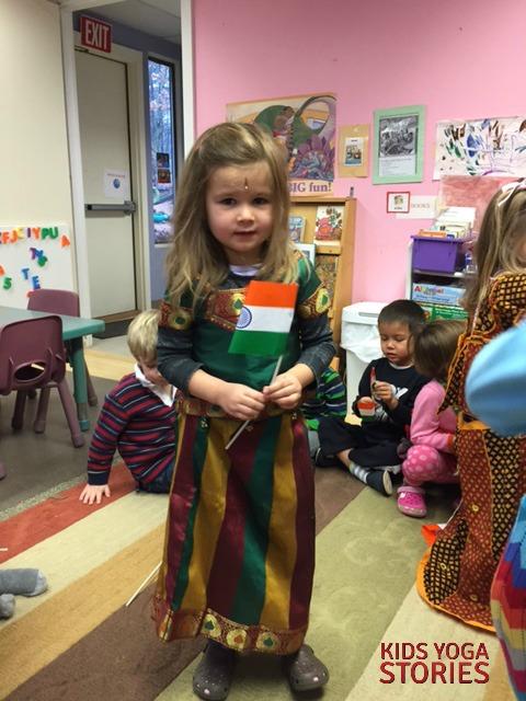 Indian dress at preschool | Kids Yoga Stories