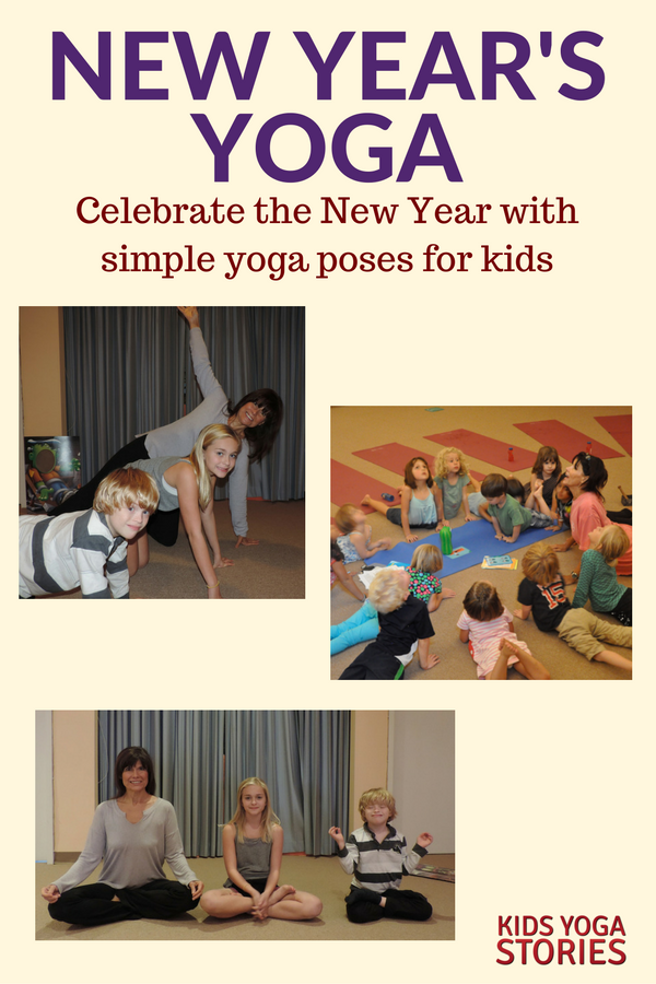 New Year Yoga sequence for kids | Kids Yoga Stories (written by Shelley Arthur)
