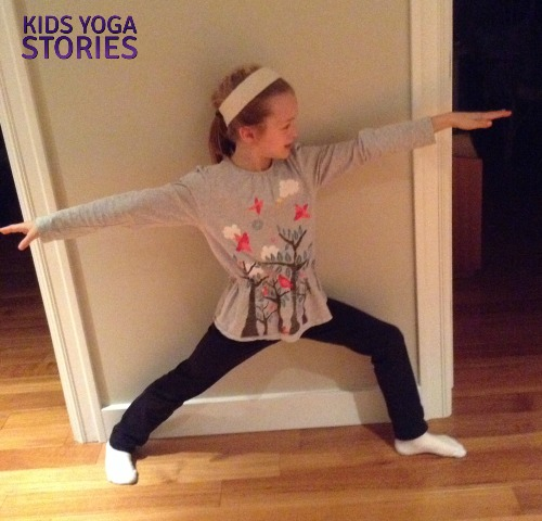 Warrior 2 Pose - Snowboarder | Kids Yoga Stories