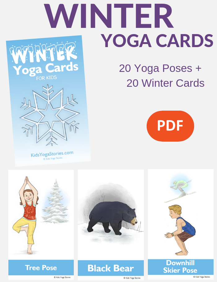 Winter Yoga Cards for Children | Kids Yoga Stories