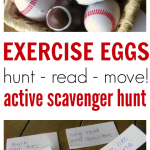 Exercise Eggs active scavenger hunt