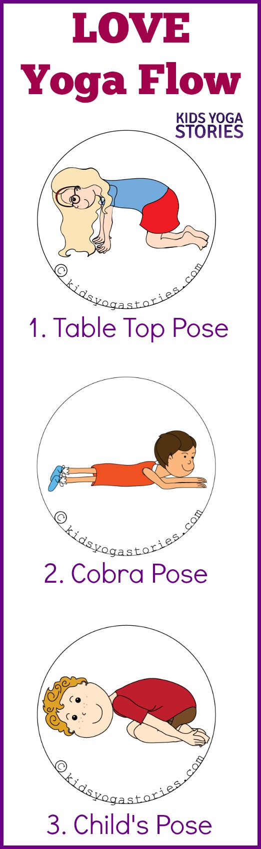 "Three yoga poses to create a ""Love-themed"" yoga flow sequence for Valentine's Day 