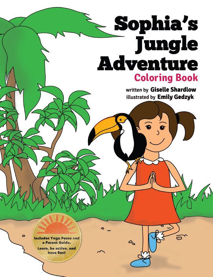 Sophias Jungle Adventure Coloring Book English