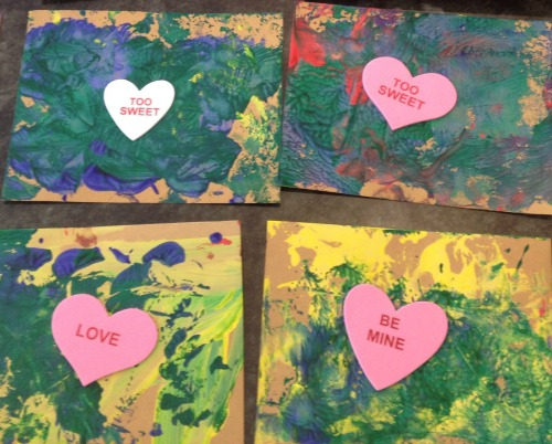 Valentine's Day painted cards | Kids Yoga Stories