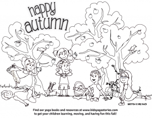 Autumn Coloring Page | Kids Yoga Stories
