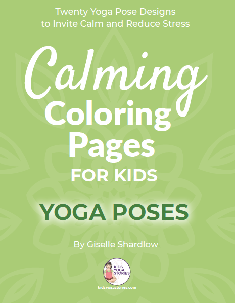 calming coloring pages for kids - yoga poses | Kids Yoga Stories