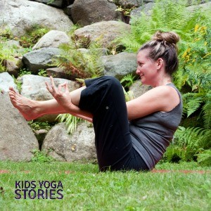 Flower Pose by Giselle Shardlow of Kids Yoga Stories