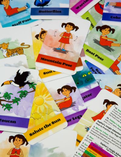 Sophia's Jungle Adventure Yoga Cards by Giselle Shardlow, Kids Yoga Stories