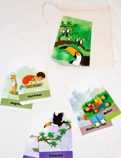 Sophia's Jungle Adventure Yoga Cards Image