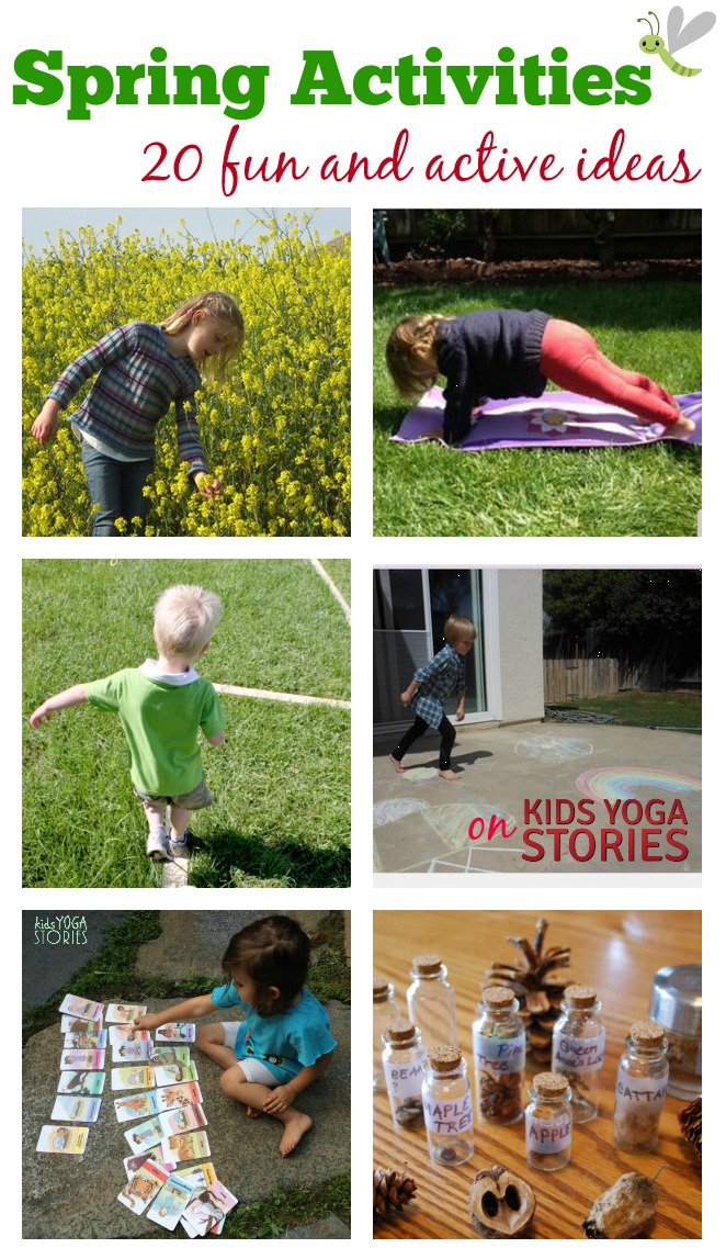 20 Fun and Active Outdoor Spring Actvities for Kids (plus mega cash giveaway) | Kids Yoga Stories
