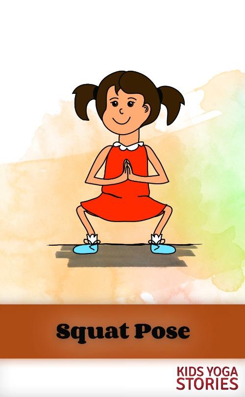 Squat Pose on Kids Yoga Stories