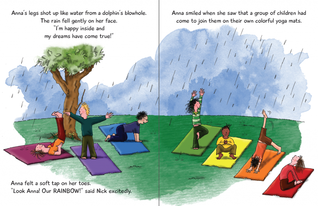 Anna and her Rainbow-Colored Yoga Mats by Giselle Shardlow, Kids Yoga Stories