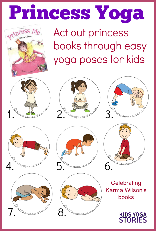 Princess Yoga: act out princess books through easy yoga poses for kids | Kids Yoga Stories