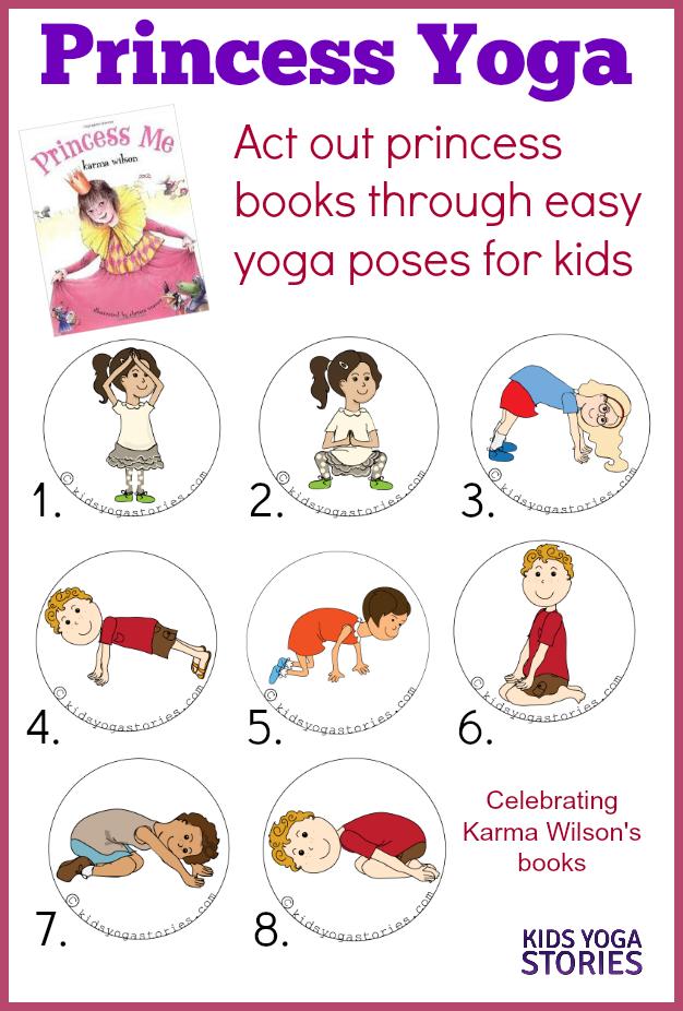 Simple Book Cover Yoga ~ Princess yoga kids stories books cards