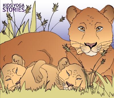African Lion (lion's breath)   Kids Yoga Stories
