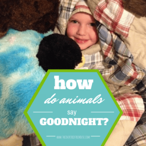 Bedtime activities for kids: How do animals say good night? | The Inspired Treehouse
