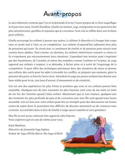 Anna et ses tapis de yoga aux couleurs de l'Arc en ciel (French) Image