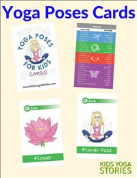 Yoga Poses for Kids Cards Image