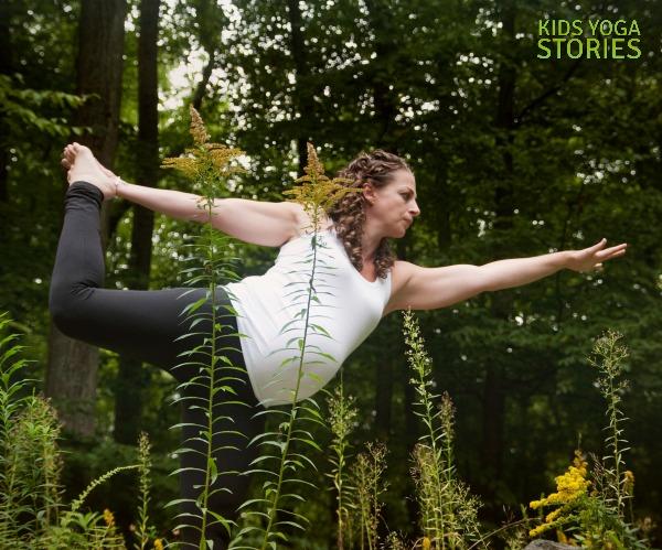Pregnancy Yoga Pose: Dancer's Pose | Kids Yoga Stories