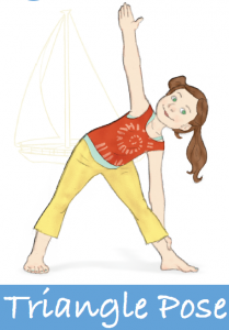 3 Sailboat Triangle Pose