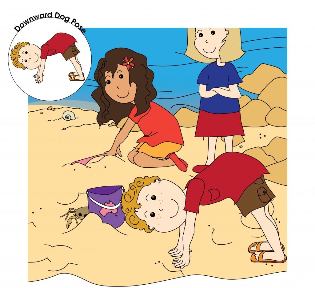 Downward-Facing Dog Pose - Luke's Beach Day