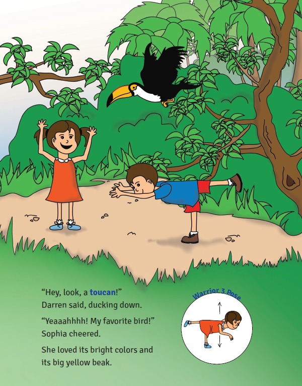 Sophia's Jungle Adventure - Toucan Pose | Kids Yoga Stories