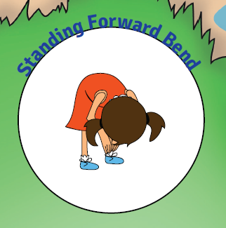 Standing Forward Bend yoga pose for kids