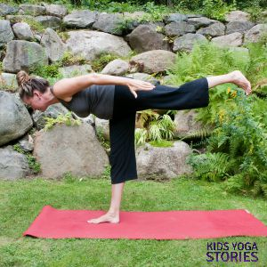 Warrior 3 Pose by Kids Yoga Stories