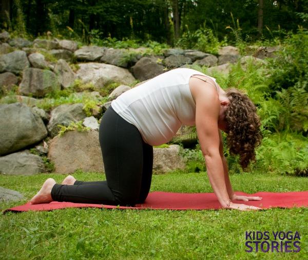 Cat Pose Prenatal Yoga   Kids Yoga Stories
