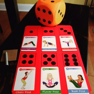 Yoga cards for kids games using dice   Kids Yoga Stories