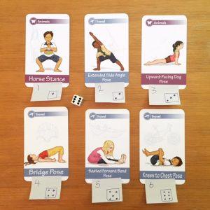 Yoga Card Game Using Dice